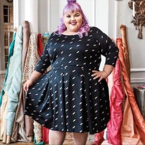 Ashley Nell Tipton Bridgette Black Lipstick Dress